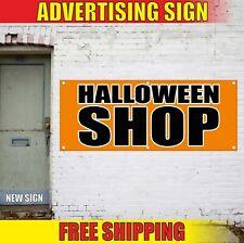 HALLOWEEN SHOP Banner Advertising Vinyl Sign Flag sale store rent costume decor
