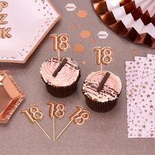 Pack of 20 Glitz & Glamour Rose Gold Food/Cupcake Picks age 16 18 20 21 30 40 50