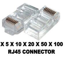 RJ45 CAT5 CAT5E CAT6 Modular Plug Network Connector Ethernet Broadband ADSL