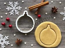 Bauble Xmas Cookie Cutter 03 | Christmas | Fondant Cake Decorating | UK Seller