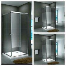 Duschkabine Eckdusche Quadrat Eckeinstieg Schiebetür Duschabtrennung Glas Werra