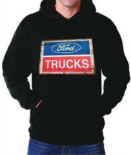 Ford Trucks Logo Vintage Sign Hoodie Sweater Hooded Sweatshirt