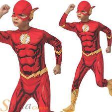 Boys The Flash Superhero Halloween Fancy Dress Costume Child Kids Outfit