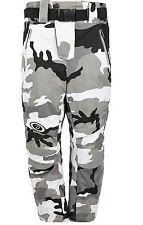 Army Black grey Camouflage Cordura Armoured Waterproof Motorcycle Bike Trousers