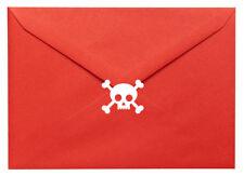 20 x skull & crossbones stickers. Halloween, pirates. Craft, Scrapbook, Cards
