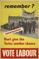 1930 il partito laburista ricorderanno Jarrow crociata cartellone elettorale STAMPA A3