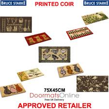 Bruce Starke Printed Coir 75-45cm Door Floor Mat Internal / Sheltered Porch