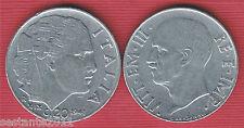I8, ITALIA ITALY VITTORIO EMANUELE III 20 CENTESIMI IMPERO 1941, KM 75b SPL / XF