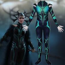 Thor 3 Ragnarok Hela Bodysuit Cosplay Women's Zentai Suit Costume Jumpsuit Party