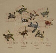 RACE FOR SURVIVAL--Sea Turtles Marine Ocean Aquatic Science Nature T shirt S-2XL