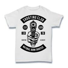 Shooting Club T Shirt Mens Sport Rifle Optics Classic Tournament Target S-3XL