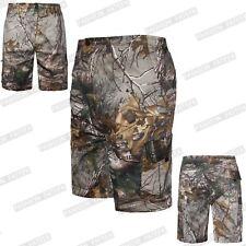 Pantalón corto para hombre estampado de camuflaje selva Pantalones Cargo Combate de Verano Playa Elástico