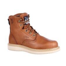 GEORGIA Mens Wedge 6 inch Work Plain Toe Boots G6152  NIB