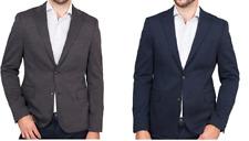 Ike Behar Men's Stretch Knit Classic Two Button Blazer Sport Jacket