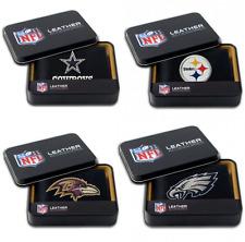 NFL Team Embroidered Leather Billfold Bi-fold Wallet ∗ Pick your Team ∗