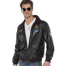 Top Gun Chaqueta 1980s oficial de la película Tom Cruise Fancy Dress Costume Smiffys 39447