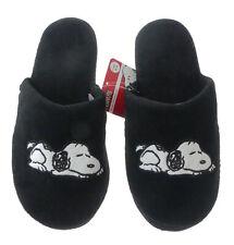 Hausschuhe Snoopy Damen weich Disney Peanuts schwarz Kinder Schlappen Slipper