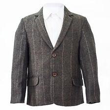 Brown tweed carreaux veste