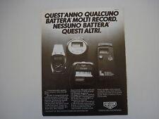 advertising Pubblicità 1981 HEUER MICROSPLIT