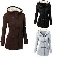 Lady Trench Parka Hooded Coat Jacket Outwear Winter Warm Long Overcoat Hoodies