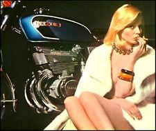Vintage suzuki GT550 italian ad moto t-shirt. gents, mesdames et tailles enfants