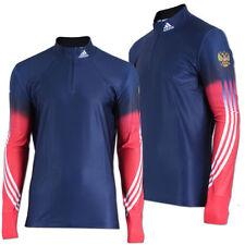 adidas Russia Race Top Langarm Running Shirt Russland Langlauf Wintersport