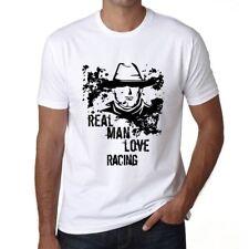 Real Men Love Racing Uomo Maglietta Bianca Regalo Di Compleanno 00539