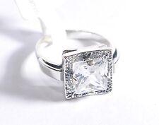 ECHTES Silber 925 Ring mit Zirkonia Stein Handmade - Unikat - Größe 56 - 58