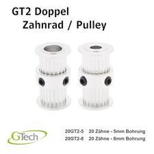 GT2 Doppel Zahnrad Pulley 3D Druck Ultimaker Mendel Riemenscheibe Zahnriemen