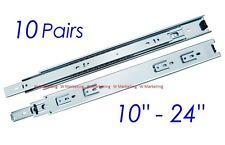 "10 Pairs Full Extension 100-lb Ball Bearing Drawer Slides 10""-24"" SL02"