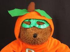 BIG HALLOWEEN PASSPORT TEDDY BEAR P IS FOR PUMPKIN  PLUSH STUFFED ANIMAL TOY