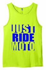 JUST RIDE MX MOTOCROSS NEON LIME TANK TOP SINGLET SHIRT DIRT BIKE YZ CR KX KTM