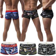 Hombres Boxer Shorts Troncos Ropa Interior S M L XL 100/% Algodón Acanalado peinado fino