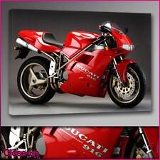 Coche 143-ducati 916 Bicicleta Lona Impresión A2 16x24 Arte