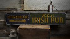 Shenanigans This Way Arrow, Custom - Rustic Distressed Wood Sign ENS1001673