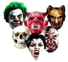Halloween Tarjeta Caretas de Fiesta Miedo Máscara Terror Monstruos Zombi Truco o