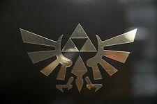 Zelda  Triforce Premium Chrome Gold/Silver Decal for Car Window, Laptops, Yeti