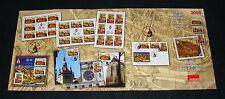 Rumanía 2009 unesco-patrimonio mundial, Schäßburg mi.6367-69, zf., KB, bloque 448-49,fdc