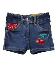 Losan Girls Denim Shorts with Cherries, Sizes 2-7