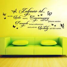 Wandtattoo Zuhause ist, wo die Liebe wohnt... Spruch Zitat Familie Wohnzimmer