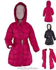 Winterjacke Mädchen Stepp Mantel Übergangs Kinder Schnee Jacke Gr. 110-140