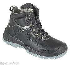 Himalayan 5155 s3 SRC in pelle nera Wide Fit acciaio Toe Stivali di sicurezza Work Boot
