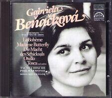 Gabriela BENACKOVA Arias La Boheme Madame Butterfly Tosca La mamma morta CD