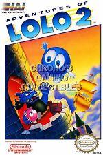 RGC Huge Poster - Adventures of LoLo 2 BOX ART Original Nintendo NES - NES059