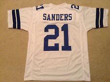 UNSIGNED CUSTOM Sewn Stitched Deion Sanders White Jersey - M, L, XL, 2XL