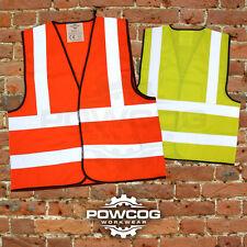 Hi Viz Vest High Vis Safety   YELLOW ORANGE   EN471 Waistcoat Visibility Jacket