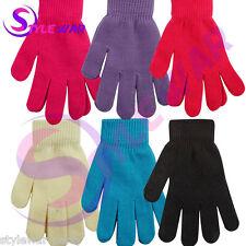 1x New Kids Junior Girls Elástico chicos Magic Gloves Colección Invierno 6 Colores