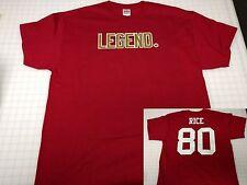 """LEGEND."" Jerry Rice - San Francisco 49ers T-Shirt - Name Number on back"