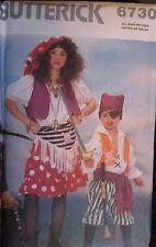UNCUT VTG Butterick SEWING Pattern 6730 Boy Girls Pirate Wench Halloween Costume