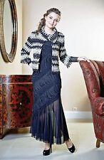 PARTY LONG DRESS SET European Cocktail Black 2 Piece Dress With Short Jacket